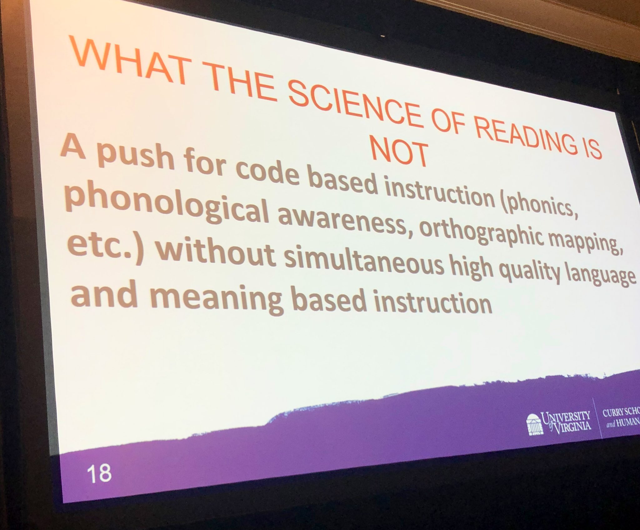 What the Science of Reading is not
