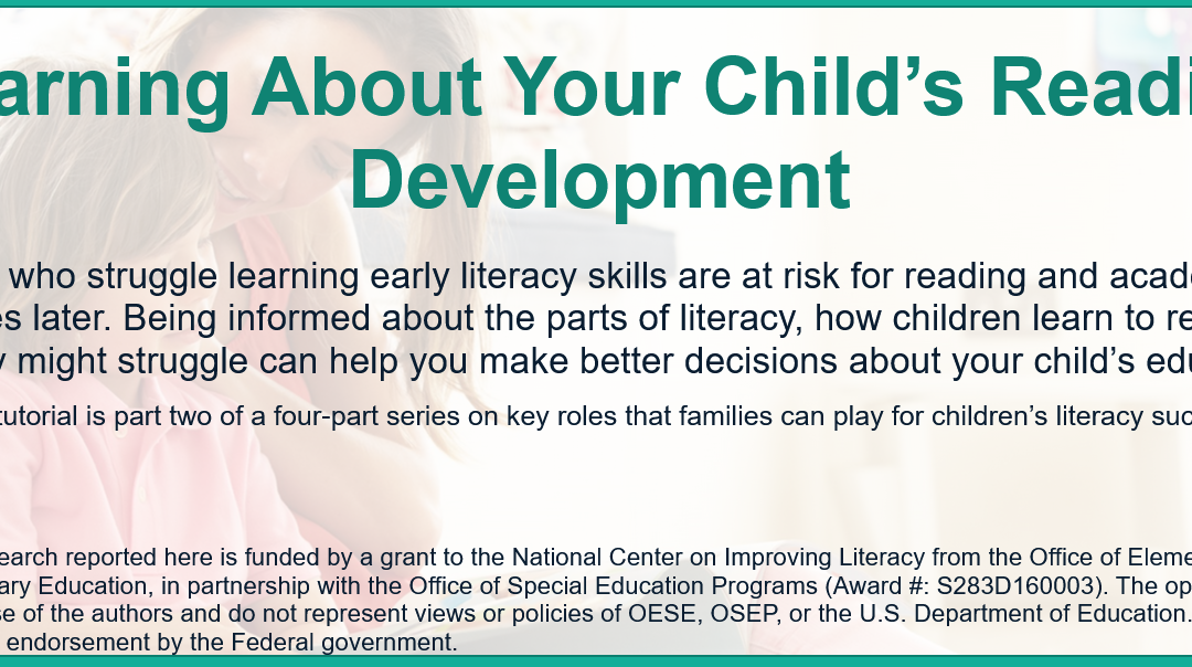 Learning about your Child's Reading Development